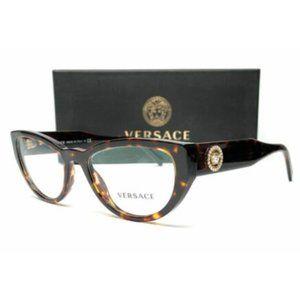 Versace Women's Havana Cat Eye Eyeglasses!